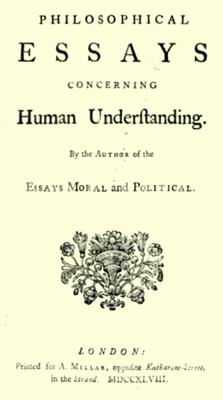 Philosophical Essays concerning Human Understanding, title page (1748)