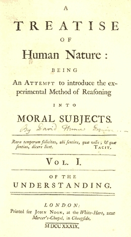 A Treatise of Human Nature (1739), title page